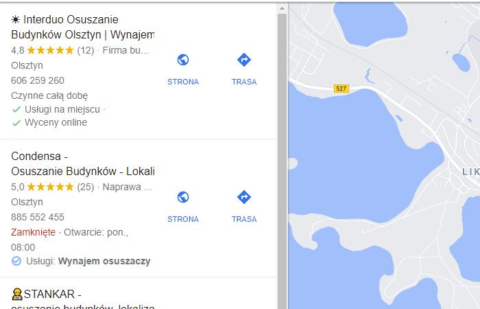 pozycjonowanie wizytówek google